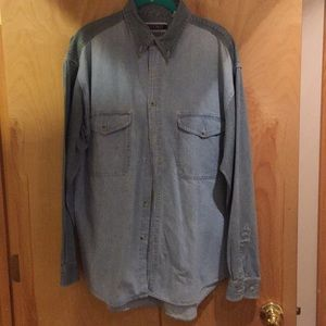 Other - Men's two tone blue shirt, large.